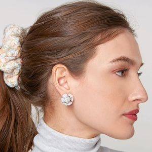 Buttercup Button earrings in Mother of Pearl